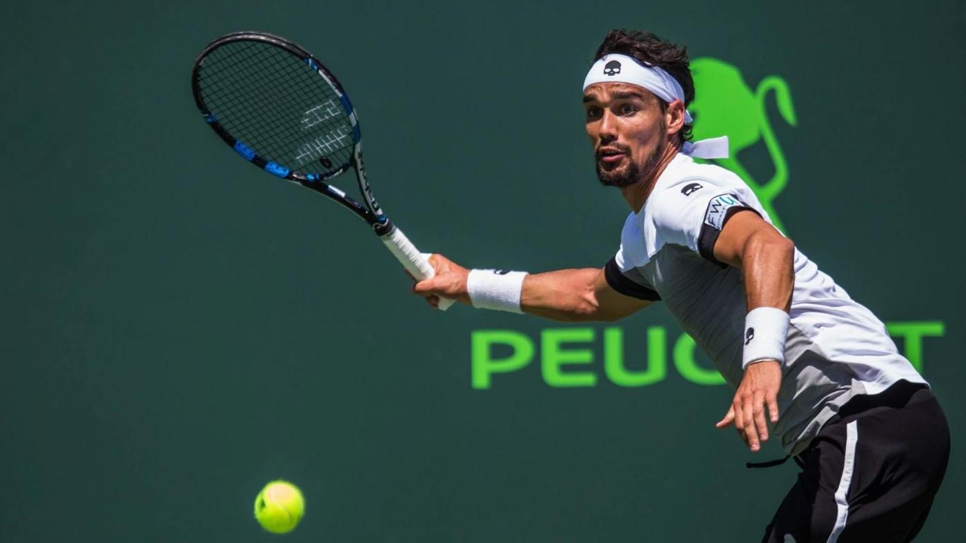Tennis, Atp Miami: Fognini si qualifica per ottavi