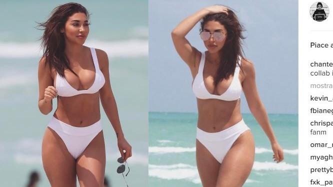 Chantel sexy in bikini, l'ex fiamma di Bieber fa impazzire Instagram