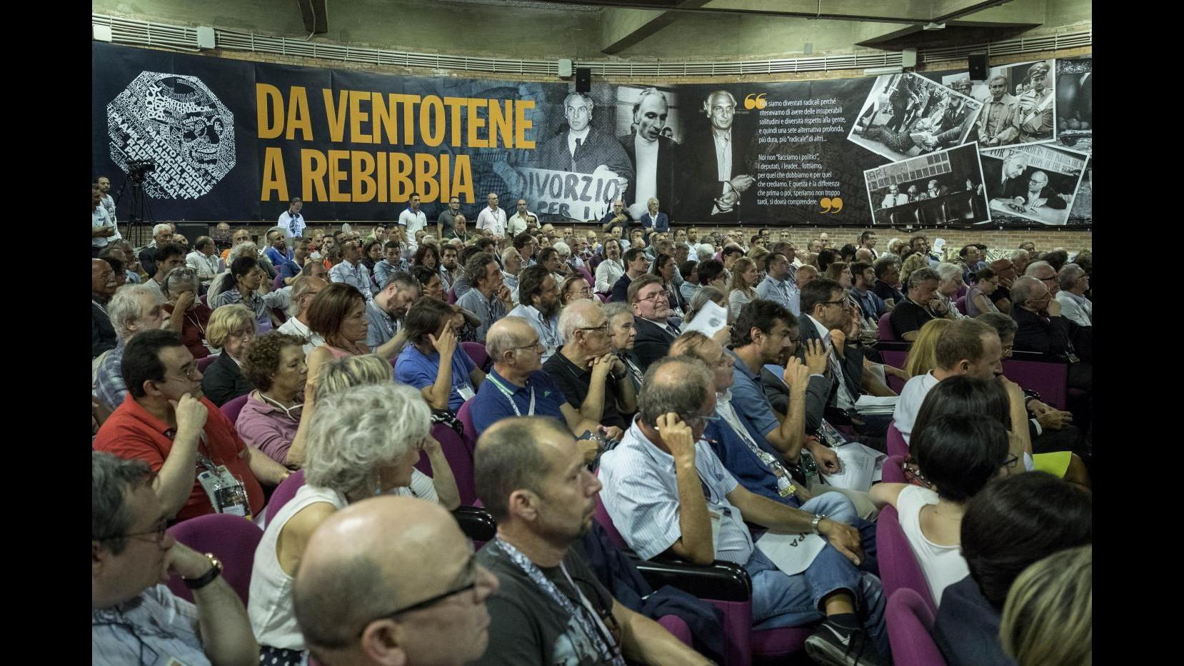 FOTO Rebibbia, congresso Straordinario del Partito Radicale