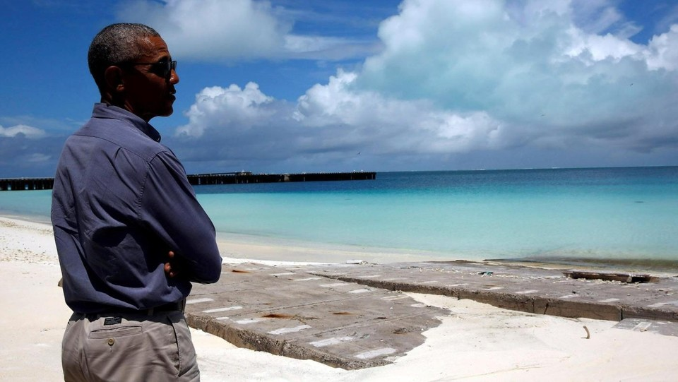Il presidente Obama in visita alle isole Midway ©LaPresse/Reuters