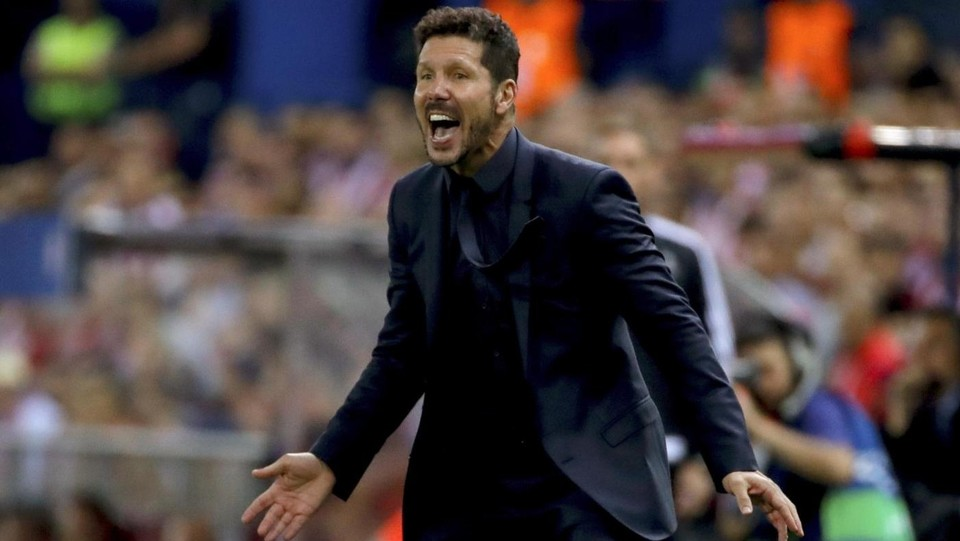 """El Cholo"" Simeone in panchina ©LaPresse/EFE"