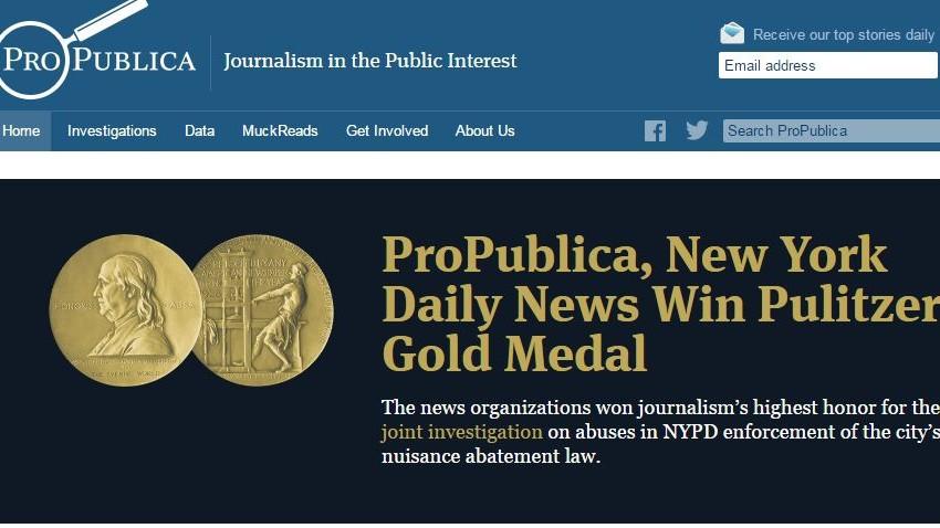 New York Daily News e ProPublica vincono il premio Pulitzer