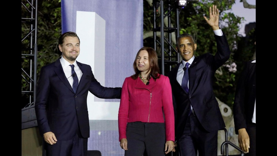 Obama e DiCaprio ©LaPresse/Reuters