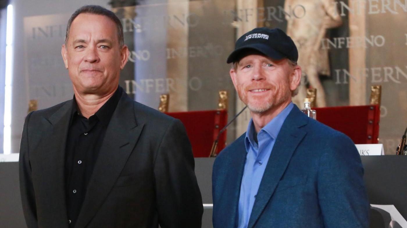 Tom Hanks e Ron Howard presentano 'Inferno' a Firenze