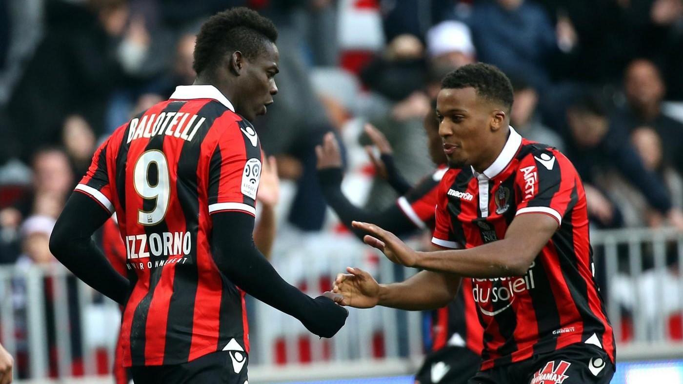 Doppietta di Balotelli, il Nizza supera il Digione 2-1