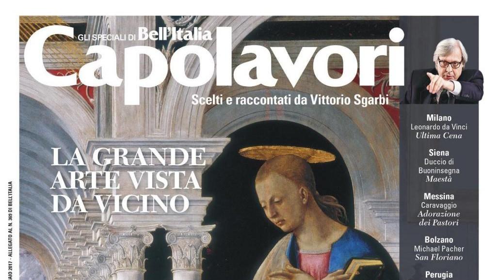 Con Bell'Italia lo speciale Capolavori curato da Vittorio Sgarbi
