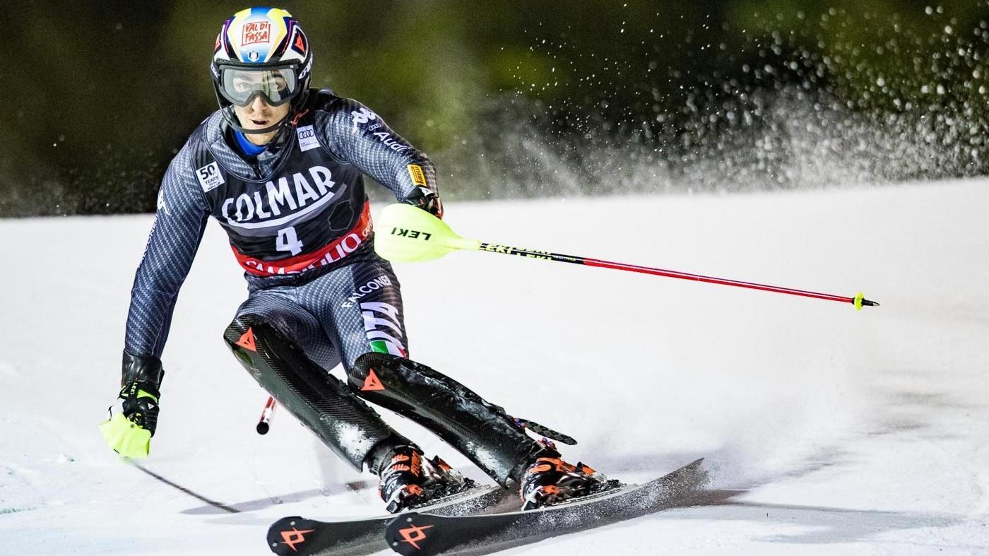 Sci, Kristoffersen vince lo slalom a Campiglio, Gross terzo
