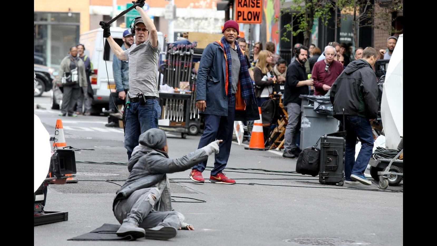 Will Smith sul set del film 'Collateral Beauty'