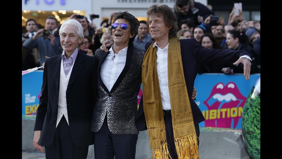 Charlie Watts, Ronnie Wood e Mick Jagger attendono Keith Richards ©LaPresse/Reuters