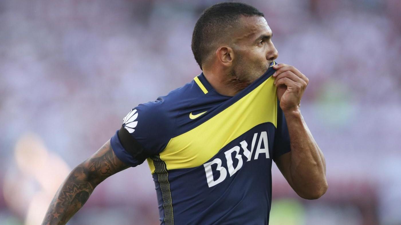 Argentina, doppietta Tevez: Boca stende River nel Superclasico