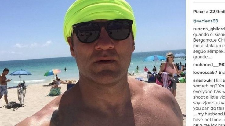 Vieri scappa al caldo di Miami. Ma della fidanzata nessuna traccia