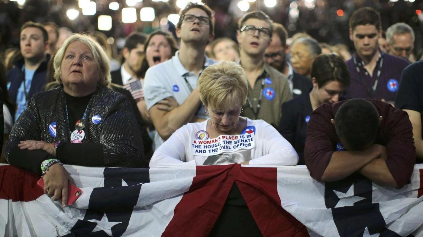 Usa 2016, delusione tra sostenitori Clinton al Javits center