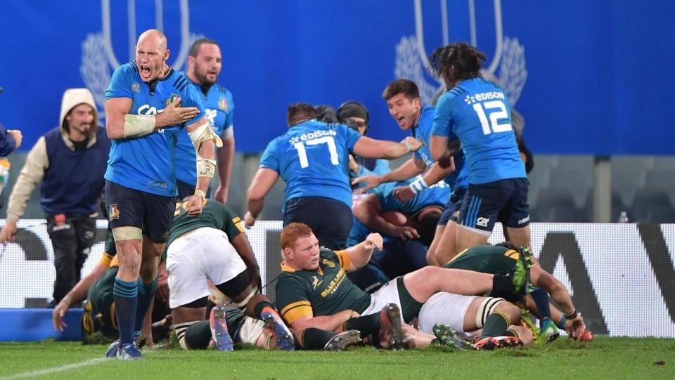 Italrugby firma l'impresa: battuto il Sudafrica per la prima volta