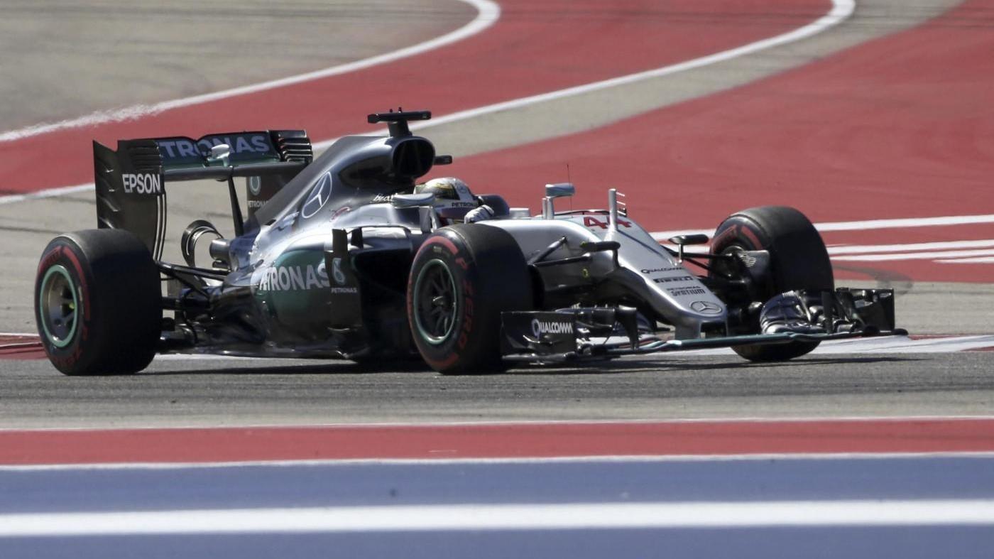 F1, Gp Usa: trionfa Hamilton davanti a Rosberg, Vettel quarto