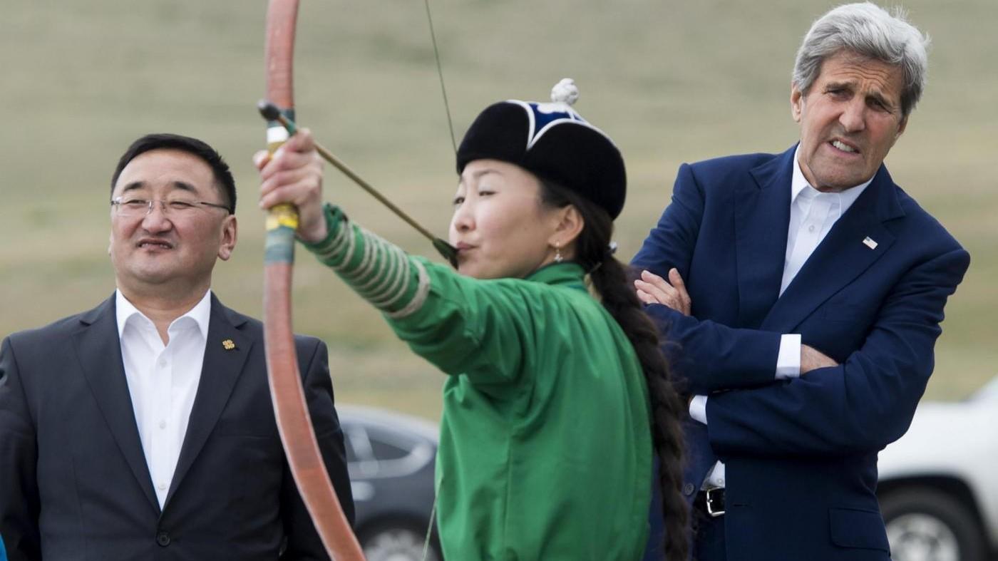 Segretario di Stato John Kerry in visita in Mongolia