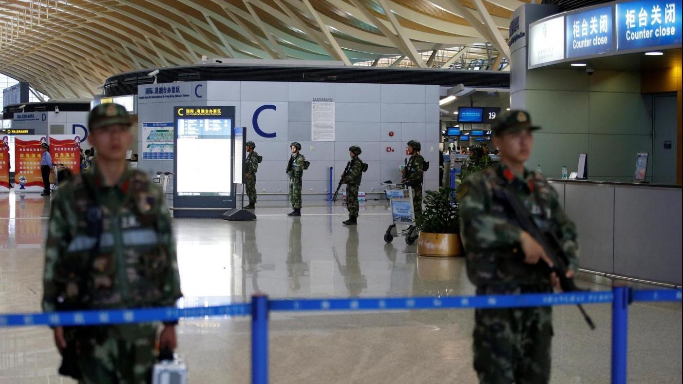 Esplosione all'aeroporto di Shanghai
