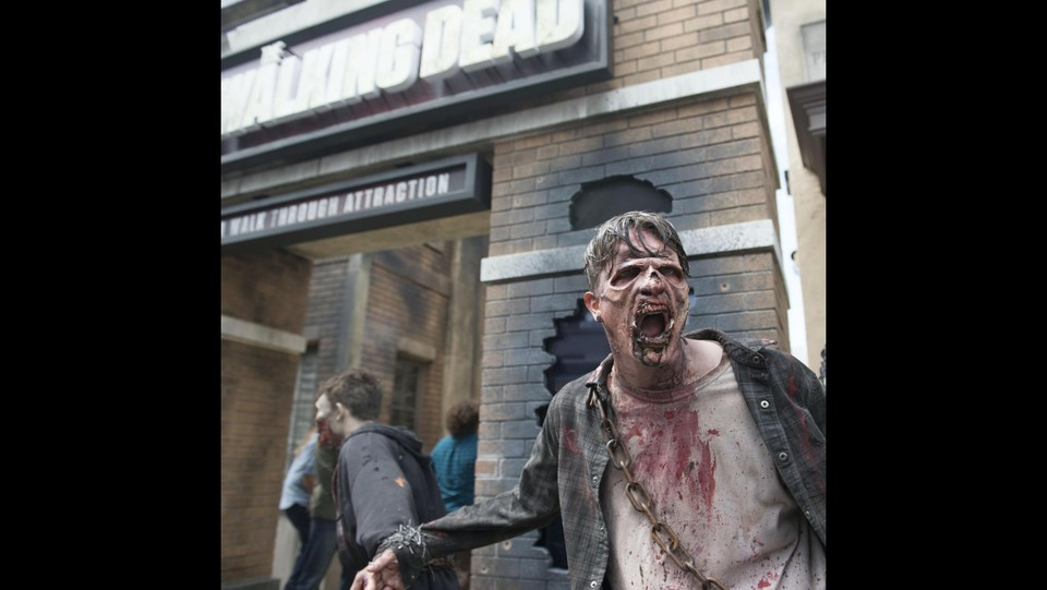 Hollywood, ecco l'attrazione su The Walking Dead agli Universal Studios ©LaPresse/Xinhua