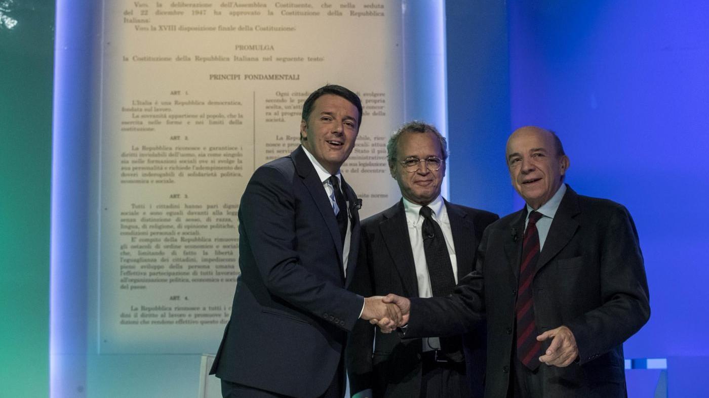 Duello tv Renzi-Zagrebelsky su referendum costituzionale