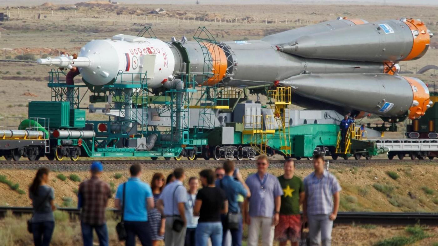 FOTO Kazakistan, attesa per lancio navicella spaziale Soyuz MS