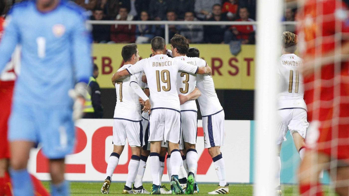 Macedonia-Italia 2-3, Immobile trascina gli azzurri