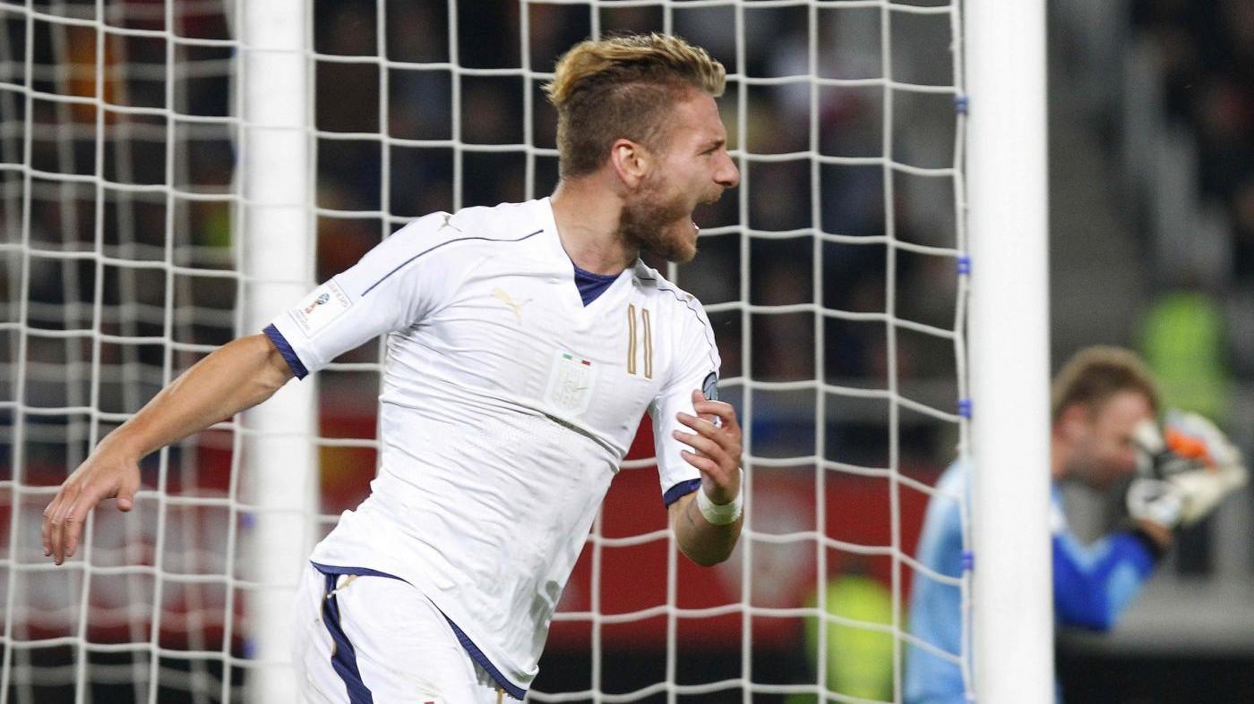 Immobile salva l'Italia: Macedonia ko 3-2 nel recupero