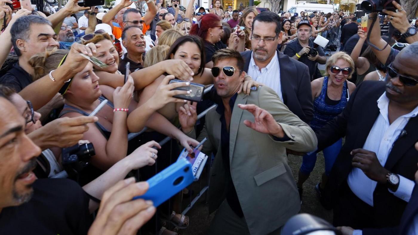 Porto Rico, Ricky Martin riceve una stella nella Hall of Fame