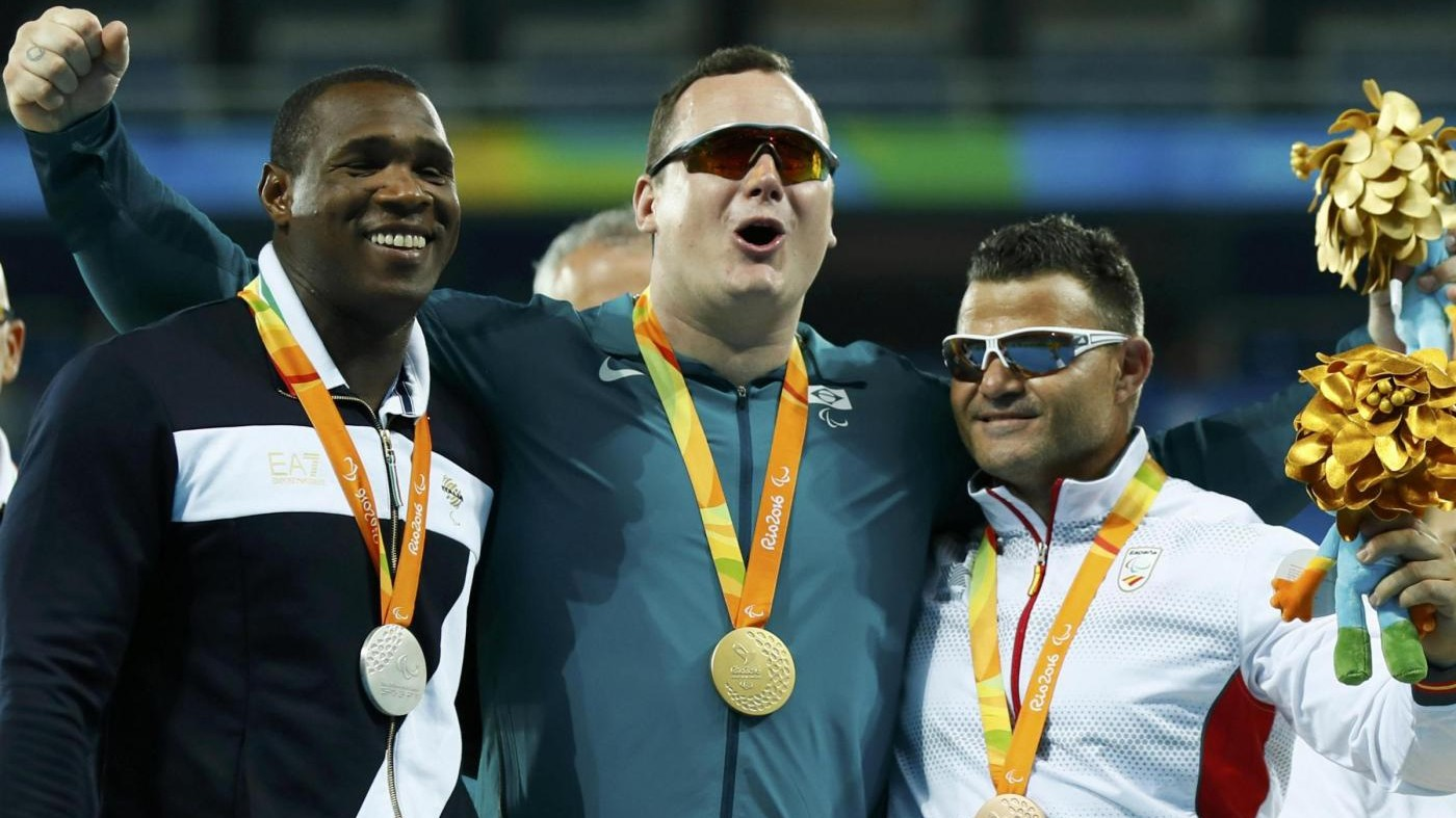 Paralimpiadi, Tapia medaglia d'argento nel lancio del disco