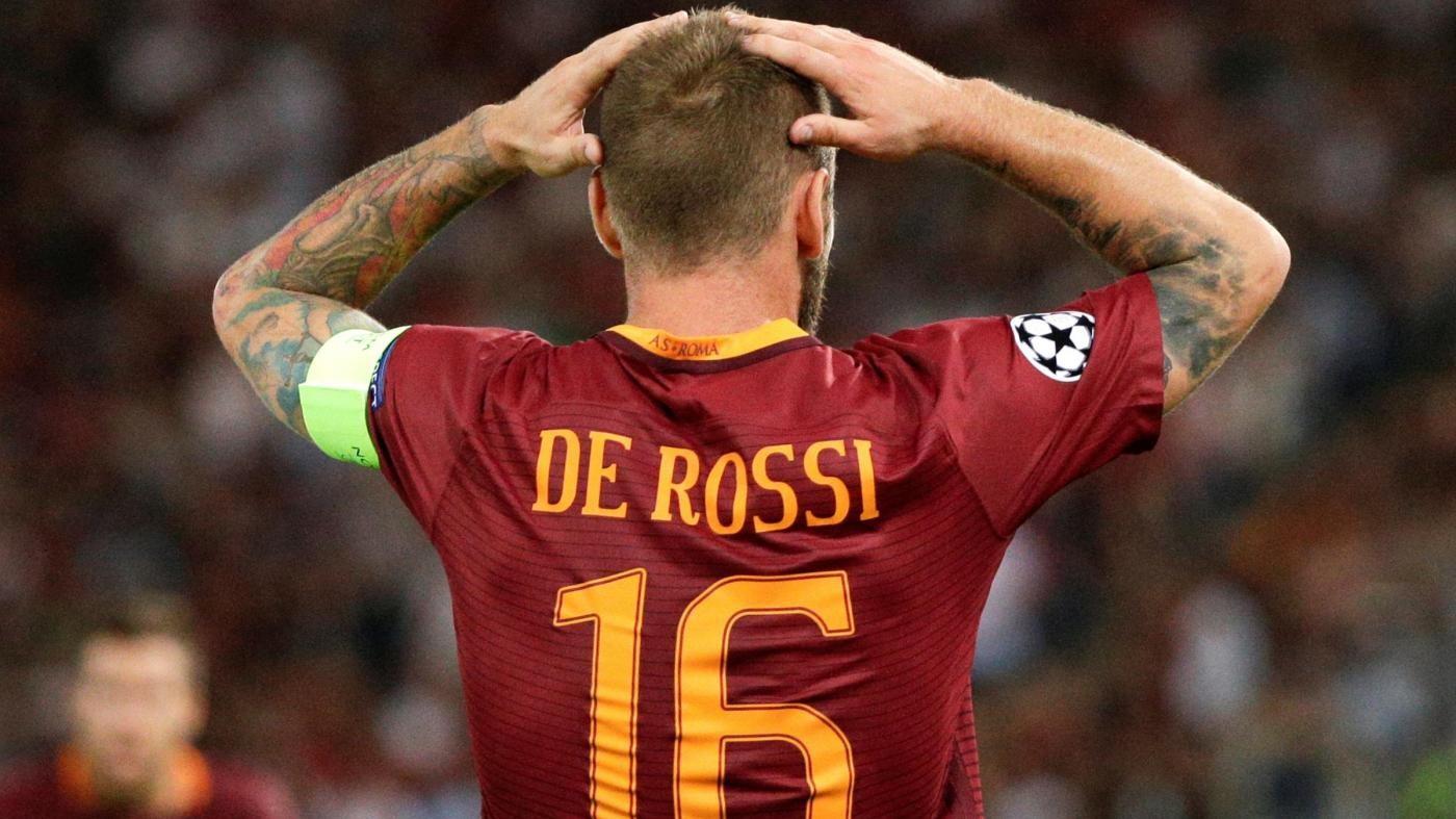 Roma, 3 turni di squalifica per De Rossi in Europa League