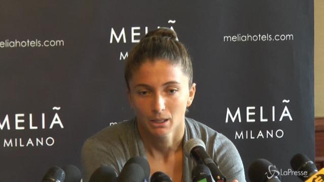 """VIDEO Tennis, Errani: """"Io mai dopata contro di me cattiveria"""""""