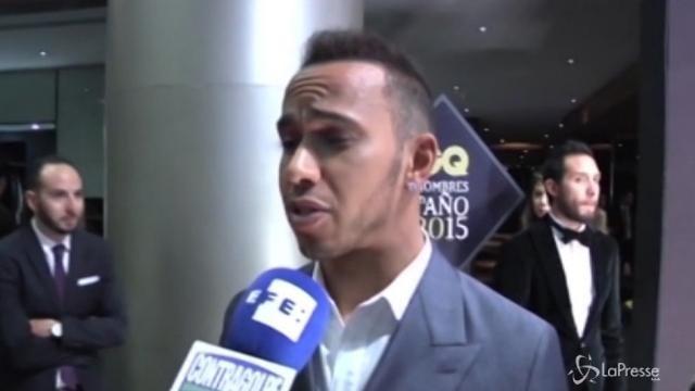 Lewis Hamilton lancia la sfida a Valentino Rossi