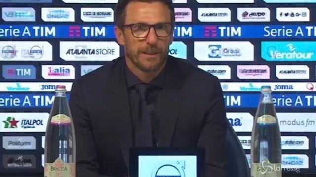 """Roma, Di Francesco: """"Abbiamo vinto una partita sporca, soffrendo"""""""