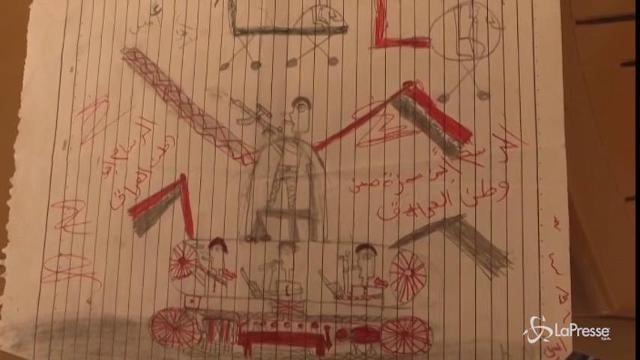 Mosul, i bimbi sfollati disegnano per ritrovare l'innocenza