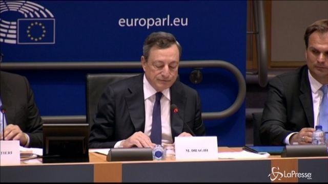 Draghi: Eurozona in ripresa, avanti con gli stimoli