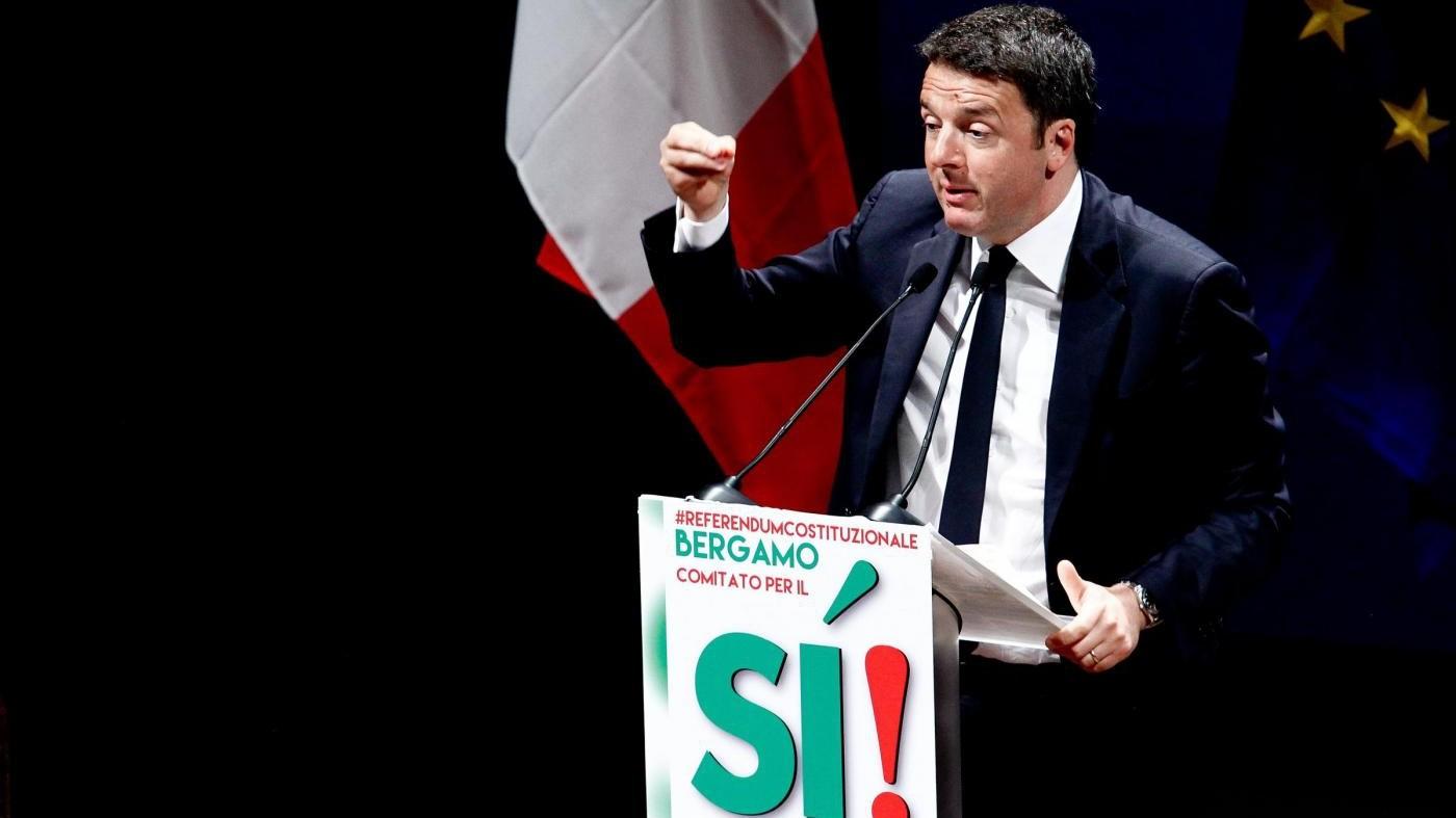 Renzi: Se referendum non passa sarà paradiso terrestre inciucisti