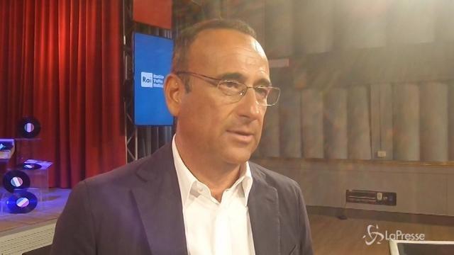 """VIDEO Conti: """"Resto finchè sarò risorsa ma, niente Sanremo"""""""