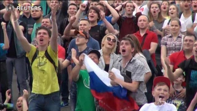 Confederations Cup, a San Pietroburgo la gioia dei tifosi russi