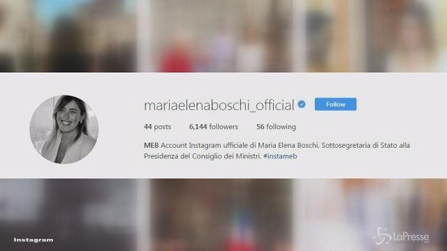 VIDEO Maria Elena Boschi sbarca su Instagram