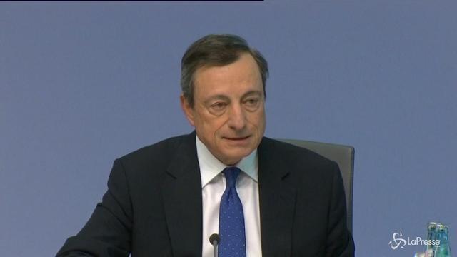 """Eurozona, Draghi ottimista: """"La crisi è superata"""""""