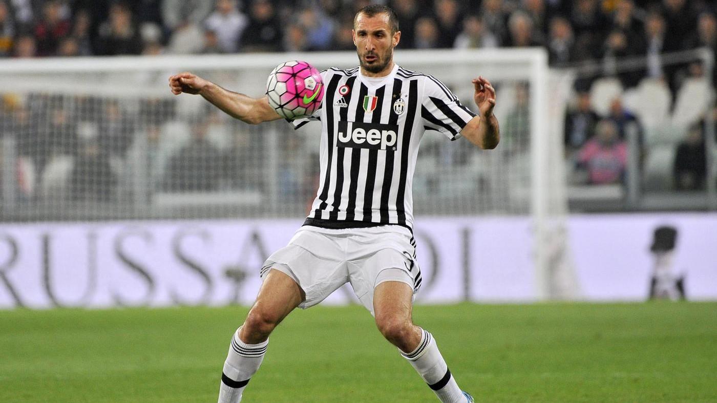 Juventus: lesione all'adduttore, 20 giorni stop per Chiellini