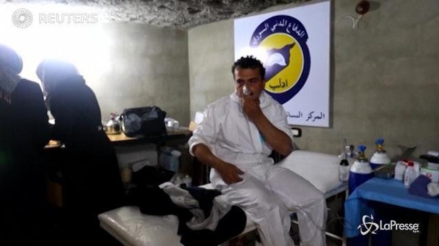 Raid con gas tossici in Siria, decine di vittime
