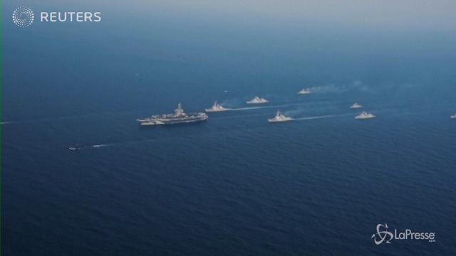 Portaerei americane verso la penisola coreana