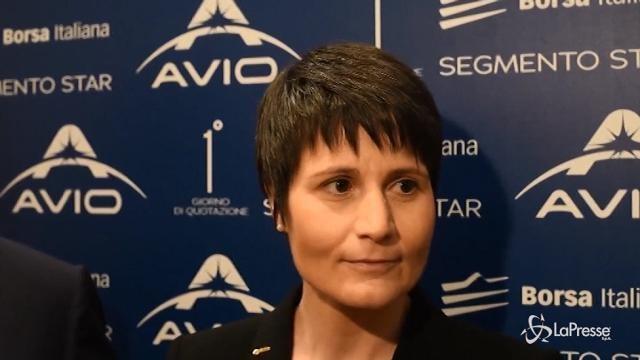 VIDEO Cristoforetti madrina per il debutto in Borsa di Avio