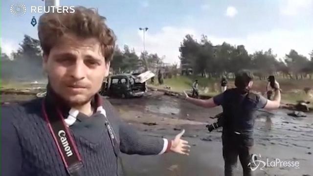 VIDEO Siria, esplosione a Aleppo fra i civili in fuga