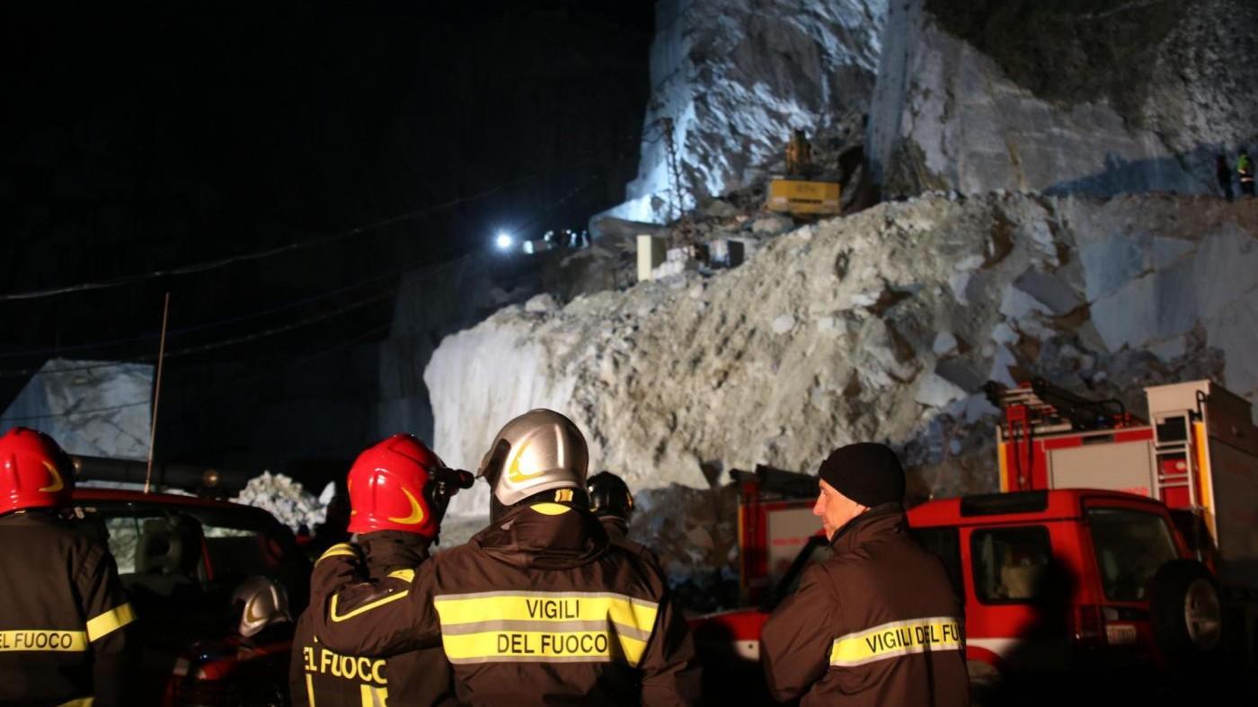 Carrara, frana in cava di marmo: ritrovati corpi dei due dispersi