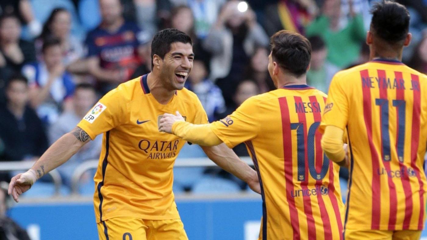 Liga: 'ottovolante' Barcellona, Deportivo La Coruna travolto