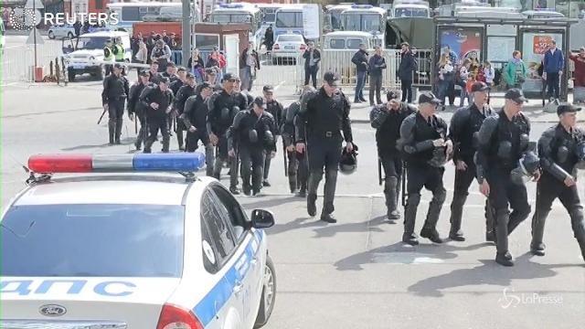 Mosca, gli appelli scritti a mano dagli attivisti anti-Putin