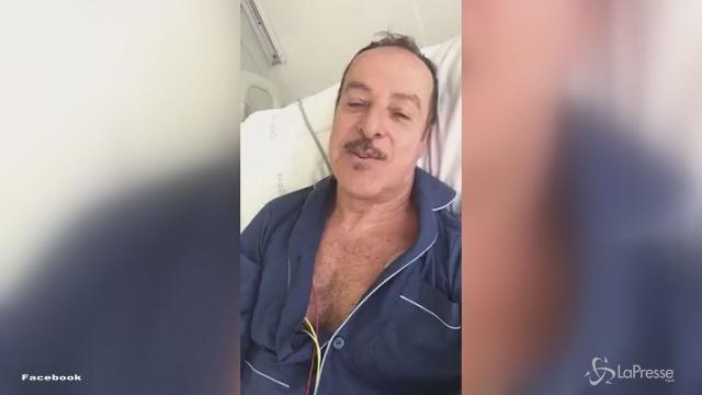 """Massimo Lopez dal letto d'ospedale: """"Grazie a tutti, il pericolo è passato"""""""
