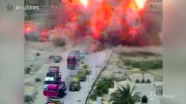 Egitto, il momento dell'esplosione dell'autobomba nel Sinai: 7 morti