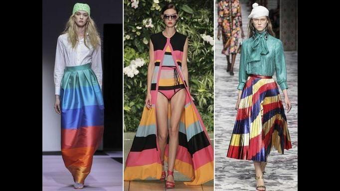 Moda, abiti rainbow: le righe arcobaleno nuovo must dell'estate
