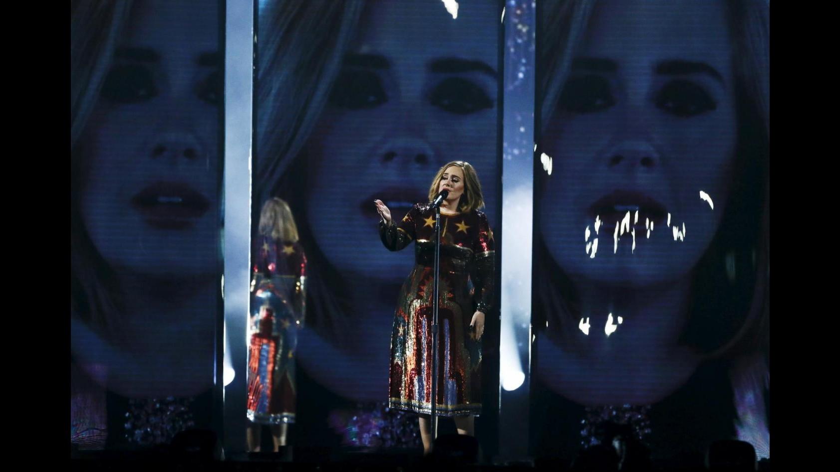 Brit Awards: Trionfa Adele, premiati Coldplay e Bieber